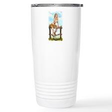 Cowgirl Pin Up Girl Thermos Mug