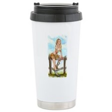 Cowgirl Pin Up Girl Travel Mug