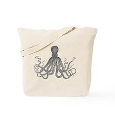 vintage octopus monotone design Tote Bag