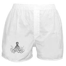 vintage octopus monotone design Boxer Shorts