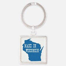 Wisconsin Square Keychain