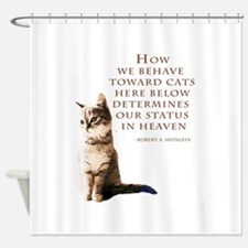 cats-and-heaven-card.jpg Shower Curtain
