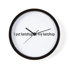 Cute Ketchup on my ketchup Wall Clock