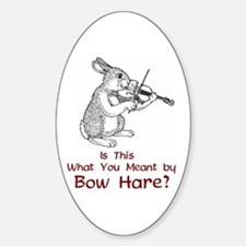 Bow Hare Oval Decal
