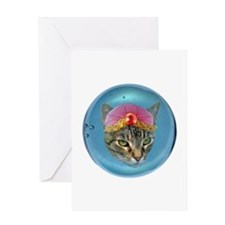 Fortune Cat Greeting Card
