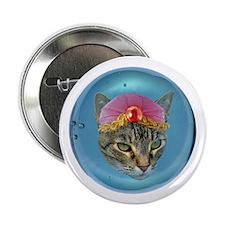 "Fortune Cat 2.25"" Button"