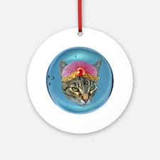 Fortune Cat Ornament (Round)