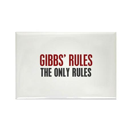 Gibbs' Rules Rectangle Magnet