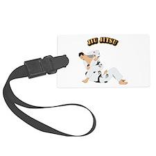 Jiu Jitsu Fighter With Text Luggage Tag