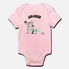 Jiu Jitsu Fighter With Text Infant Bodysuit