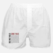 Gibbs' Rules Boxer Shorts