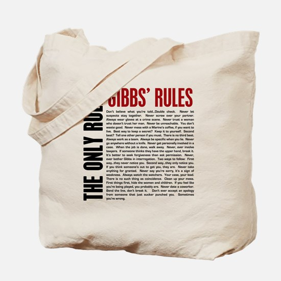 Gibbs' Rules Tote Bag