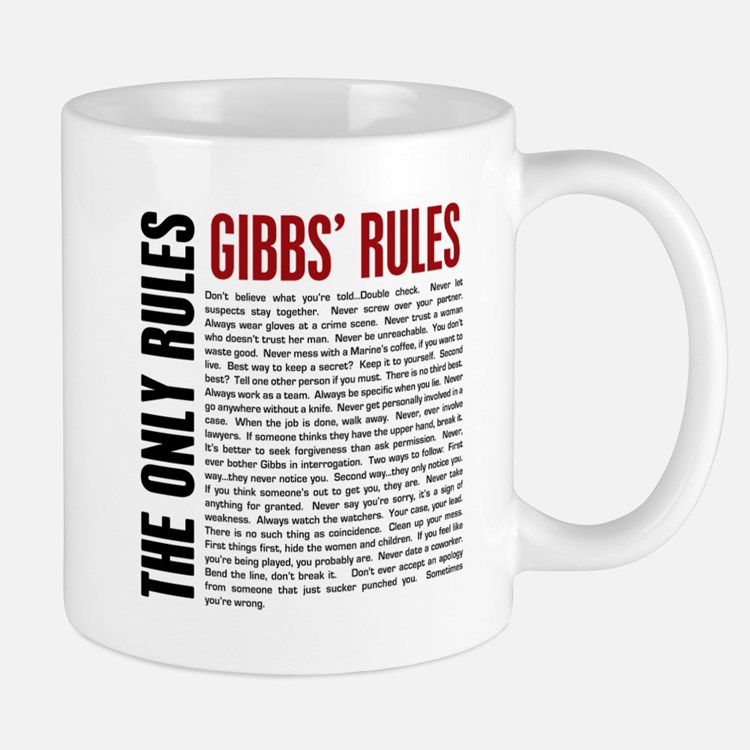 Gibbs' Rules Small Small Mug