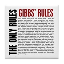 Gibbs' Rules Tile Coaster
