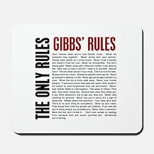 Gibbs' Rules Mousepad