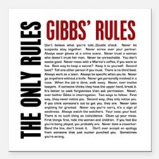 "Gibbs' Rules Square Car Magnet 3"" x 3"""