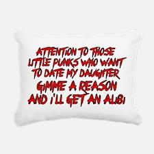 Get an Alibi Rectangular Canvas Pillow