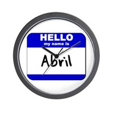 hello my name is abril  Wall Clock