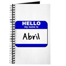 hello my name is abril Journal