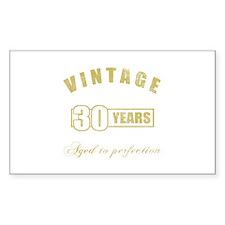 Vintage 30th Birthday Decal