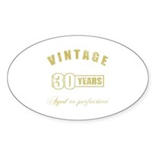 Vintage 30th Birthday Decal