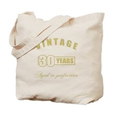 Vintage 30th Birthday Tote Bag