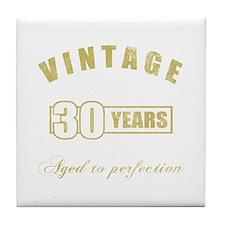 Vintage 30th Birthday Tile Coaster