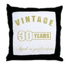 Vintage 30th Birthday Throw Pillow