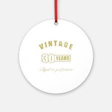 Vintage 30th Birthday Ornament (Round)