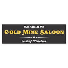 Gold Mine Saloon Bumper Bumper Sticker Bumper Bumper Sticker