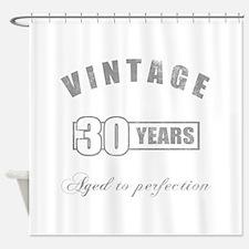 Vintage 30th Birthday Shower Curtain