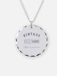 Vintage 30th Birthday Necklace