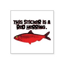 'Red Herring' Writer Rectangle Sticker
