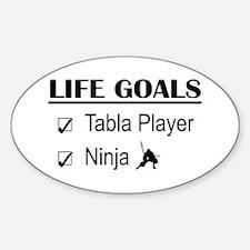 Tabla Player Ninja Life Goals Stickers
