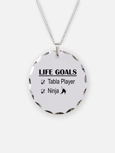 Tabla Player Ninja Life Goal Necklace