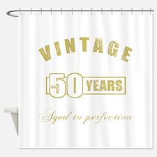 Vintage 50th Birthday Shower Curtain