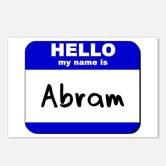 hello my name is abram  Postcards (Package of 8)