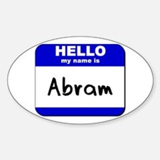 hello my name is abram Oval Decal