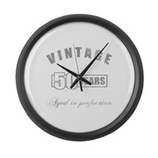 Vintage 50th Birthday Large Wall Clock