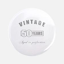 """Vintage 50th Birthday 3.5"""" Button"""