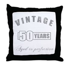 Vintage 50th Birthday Throw Pillow