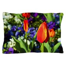 Red Tulip Pillow Case