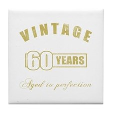 Vintage 60th Birthday Tile Coaster
