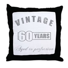 Vintage 60th Birthday Throw Pillow