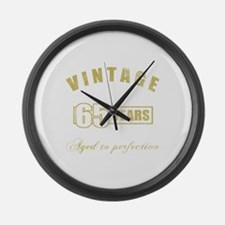 Vintage 65th Birthday Large Wall Clock
