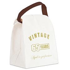 Vintage 65th Birthday Canvas Lunch Bag