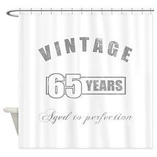 Vintage 65th Birthday Shower Curtain