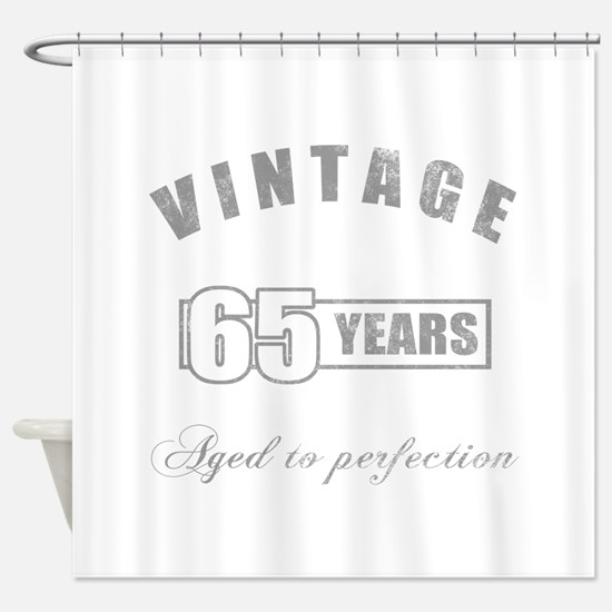 Vintage 65th Birthday Shower Curtain