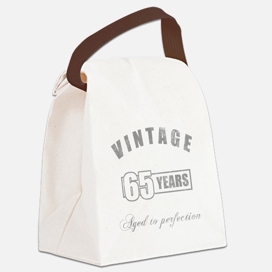 Vintage 65th Birthday Canvas Lunch Bag