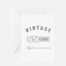 Vintage 65th Birthday Greeting Cards (Pk of 20)